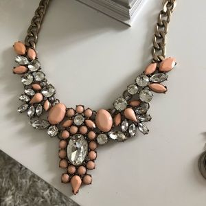 J. Crew Blush Statement Necklace